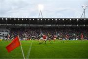 22 June 2019; Liam O'Donovan of Cork in action against Sean O'Shea of Kerry during the Munster GAA Football Senior Championship Final match between Cork and Kerry at Páirc Ui Chaoimh in Cork.  Photo by Brendan Moran/Sportsfile