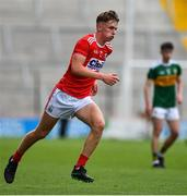 22 June 2019; Daniel Peet of Cork during the Electric Ireland Munster GAA Football Minor Championship Final match between Cork and Kerry at Páirc Ui Chaoimh in Cork.  Photo by Brendan Moran/Sportsfile