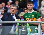 ***** FOR REFERENCE ONLY ******   22 June 2019; / in action against / during the Electric Ireland Munster GAA Football Minor Championship Final match between Cork and Kerry at Páirc Ui Chaoimh in Cork.  Photo by Brendan Moran/Sportsfile *** NO REPRODUCTION FEE ***