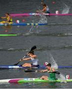 26 June 2019; Jenny Egan of Ireland, bottom right, competes in the Women's Canoe Sprint K1 200m semi-final at Zaslavl Regatta Course on Day 6 of the Minsk 2019 2nd European Games in Minsk, Belarus. Photo by Seb Daly/Sportsfile