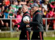 22 June 2019; Mayo manager James Horan, left, along with selector Martin Barrett  before the GAA Football All-Ireland Senior Championship Round 2 match between Down and Mayo at Pairc Esler in Newry, Down. Photo by Oliver McVeigh/Sportsfile