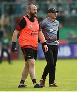 22 June 2019; Down Manager Paddy Tally, right, along with selector Stephen Beattie before the GAA Football All-Ireland Senior Championship Round 2 match between Down and Mayo at Pairc Esler in Newry, Down.  Photo by Oliver McVeigh/Sportsfile