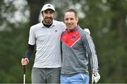 28 June 2019; Danny O'Reilly from The Coronas with former Munster rugby player Tomás O'Leary during the Ian Rush Golf Tournament at Fota Island Resort in Fota Island, Cork. Photo by Matt Browne/Sportsfile