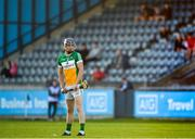 26 June 2019; Cathal Kiely of Offaly during the Bord Gais Energy Leinster GAA Hurling U20 Championship quarter-final match between Dublin and Offaly at Parnell Park in Dublin. Photo by Eóin Noonan/Sportsfile