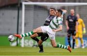 28 June 2019; Joey O'Brien of Shamrock Rovers in action against Michael Duffy of Dundalk during the SSE Airtricity League Premier Division match between Shamrock Rovers and Dundalk at Tallaght Stadium in Dublin. Photo by Ben McShane/Sportsfile