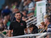 28 June 2019; Andy Boyle of Dundalk makes his way to his seat in the stand during the SSE Airtricity League Premier Division match between Shamrock Rovers and Dundalk at Tallaght Stadium in Dublin. Photo by Eóin Noonan/Sportsfile