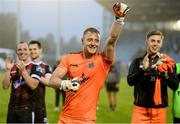 28 June 2019; Bohemians goalkeeper James Talbot celebrates after the SSE Airtricity League Premier Division match between Waterford and Bohemians at the RSC in Waterford. Photo by Diarmuid Greene/Sportsfile