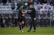 28 June 2019; Seán Gannon of Dundalk with Dundalk head coach Vinny Perth following the SSE Airtricity League Premier Division match between Shamrock Rovers and Dundalk at Tallaght Stadium in Dublin. Photo by Eóin Noonan/Sportsfile