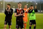 28 June 2019; Bohemians players including Ryan Swan, centre, applaud supporters after the SSE Airtricity League Premier Division match between Waterford and Bohemians at the RSC in Waterford. Photo by Diarmuid Greene/Sportsfile