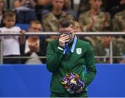 29 June 2019; Michaela Walsh of Ireland with her silver medal following her defeat to Stanimira Petrova of Bulgaria in the Women's Featherweight final bout at Uruchie Sports Palace on Day 9 of the Minsk 2019 2nd European Games in Minsk, Belarus. Photo by Seb Daly/Sportsfile
