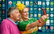 29 June 2019; Michael 'Babs' Keating with comedian Katherine Lynch, at Croke Park, Dublin, before setting off to join the Dublin Pride Parade 2019. Photo by Ray McManus/Sportsfile