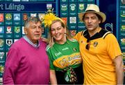 29 June 2019; Michael 'Babs' Keating with singer-songwriter and author Brian Kennedy and comedian Katherine Lynch, at Croke Park, Dublin, before setting off to join the Dublin Pride Parade 2019. Photo by Ray McManus/Sportsfile