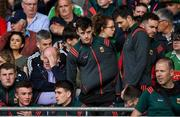 29 June 2019; Injured Mayo captain Diarmuid O'Connor prior to the GAA Football All-Ireland Senior Championship Round 3 match between Mayo and Armagh at Elverys MacHale Park in Castlebar, Mayo. Photo by Brendan Moran/Sportsfile