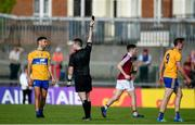 29 June 2019; Cathal O'Connor of Clare leaves the field after being shown a black card by referee Martin McNally during the GAA Football All-Ireland Senior Championship Round 3 match between Westmeath and Clare at TEG Cusack Park in Mullingar, Westmeath. Photo by Sam Barnes/Sportsfile