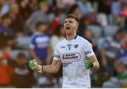 29 June 2019; Graham Brody of Laois celebrates at full time during the GAA Football All-Ireland Senior Championship Round 3 match between Laois and Offaly at O'Moore Park in Portlaoise, Laois. Photo by Eóin Noonan/Sportsfile