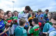 29 June 2019; David Clarke of Mayo signs autographs for fans after the GAA Football All-Ireland Senior Championship Round 3 match between Mayo and Armagh at Elverys MacHale Park in Castlebar, Mayo. Photo by Brendan Moran/Sportsfile