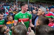 29 June 2019; Cillian O'Connor of Mayo is congratulated by fans after the GAA Football All-Ireland Senior Championship Round 3 match between Mayo and Armagh at Elverys MacHale Park in Castlebar, Mayo. Photo by Brendan Moran/Sportsfile