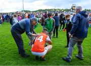 29 June 2019; Rian O'Neill of Armagh is consoled by fans after the GAA Football All-Ireland Senior Championship Round 3 match between Mayo and Armagh at Elverys MacHale Park in Castlebar, Mayo. Photo by Brendan Moran/Sportsfile