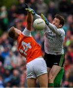 29 June 2019; David Clarke of Mayo in action against Rian O'Neill of Armagh during the GAA Football All-Ireland Senior Championship Round 3 match between Mayo and Armagh at Elverys MacHale Park in Castlebar, Mayo. Photo by Brendan Moran/Sportsfile
