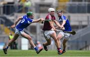 30 June 2019; Killian Doyle of Westmeath in action against Paddy Purcell, left, and John Lennon of Laois during the Joe McDonagh Cup Final match between Laois and Westmeath at Croke Park in Dublin. Photo by Daire Brennan/Sportsfile