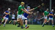 30 June 2019; Dan Morrissey of Limerick clears downfield during the Munster GAA Hurling Senior Championship Final match between Limerick and Tipperary at LIT Gaelic Grounds in Limerick. Photo by Brendan Moran/Sportsfile
