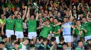 30 June 2019; Limerick captain Declan Hannon and his team-mates celebrate with the cup after the Munster GAA Hurling Senior Championship Final match between Limerick and Tipperary at LIT Gaelic Grounds in Limerick. Photo by Brendan Moran/Sportsfile