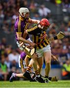 30 June 2019; Liam Ryan of Wexford in action against Paul morris of Kilkenny during the Leinster GAA Hurling Senior Championship Final match between Kilkenny and Wexford at Croke Park in Dublin. Photo by Ramsey Cardy/Sportsfile
