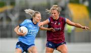 30 June 2019; Nicole Owens of Dublin in action against Jo-Hanna Maher of Westmeath during the Ladies Football Leinster Senior Championship Final match between Dublin and Westmeath at Netwatch Cullen Park in Carlow. Photo by Sam Barnes/Sportsfile