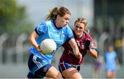 30 June 2019; Noelle Healy of Dublin in action against Nicole Feery of Westmeath during the Ladies Football Leinster Senior Championship Final match between Dublin and Westmeath at Netwatch Cullen Park in Carlow. Photo by Sam Barnes/Sportsfile