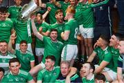 30 June 2019; Limerick captain Declan Hannon and his team-mates celebrate with the cup in the dressing room after the Munster GAA Hurling Senior Championship Final match between Limerick and Tipperary at LIT Gaelic Grounds in Limerick. Photo by Piaras Ó Mídheach/Sportsfile