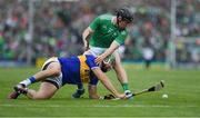 30 June 2019; James Barry of Tipperary in action against Peter Casey of Limerick during the Munster GAA Hurling Senior Championship Final match between Limerick and Tipperary at LIT Gaelic Grounds in Limerick. Photo by Piaras Ó Mídheach/Sportsfile