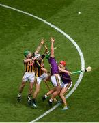 30 June 2019; Conor McDonald of Wexford in action against Paul Murphy, left, and Paddy Deegan of Kilkenny during the Leinster GAA Hurling Senior Championship Final match between Kilkenny and Wexford at Croke Park in Dublin. Photo by Daire Brennan/Sportsfile