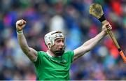 30 June 2019; Cian Lynch of Limerick celebrates after the Munster GAA Hurling Senior Championship Final match between Limerick and Tipperary at LIT Gaelic Grounds in Limerick. Photo by Piaras Ó Mídheach/Sportsfile
