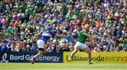 30 June 2019; Tom Morrissey of Limerick in action against John McGrath of Tipperary during the Munster GAA Hurling Senior Championship Final match between Limerick and Tipperary at LIT Gaelic Grounds in Limerick. Photo by Brendan Moran/Sportsfile