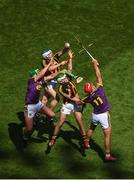 30 June 2019; Huw Lawlor, left, and Paddy Deegan of Kilkenny in action against Conor McDonald, left, and Lee Chin of Wexford during the Leinster GAA Hurling Senior Championship Final match between Kilkenny and Wexford at Croke Park in Dublin. Photo by Daire Brennan/Sportsfile
