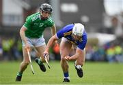 30 June 2019; Seán O'Brien of Tipperary in action against Graeme Mulcahy of Limerick during the Munster GAA Hurling Senior Championship Final match between Limerick and Tipperary at LIT Gaelic Grounds in Limerick. Photo by Brendan Moran/Sportsfile