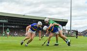 30 June 2019; Padraic Maher of Tipperary gains possession ahead of team-mate Seán O'Brien and Aaron Gillane of Limerick during the Munster GAA Hurling Senior Championship Final match between Limerick and Tipperary at LIT Gaelic Grounds in Limerick. Photo by Brendan Moran/Sportsfile