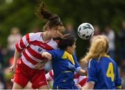 30 June 2019; Laura Shine of Cork in action against Leah Martin of South Tipperary during the Gaynor cup final at the Fota Island FAI Gaynor Tournament U15 Finals at UL Sports in the University of Limerick. Photo by Eóin Noonan/Sportsfile