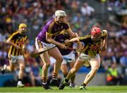 30 June 2019; Liam Ryan of Wexford in action against Adrian Mullen of Kilkenny during the Leinster GAA Hurling Senior Championship Final match between Kilkenny and Wexford at Croke Park in Dublin. Photo by Ramsey Cardy/Sportsfile