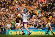 30 June 2019; Mark Fanning of Wexford shoots to score the first goal of the Leinster GAA Hurling Senior Championship Final match between Kilkenny and Wexford at Croke Park in Dublin. Photo by Ramsey Cardy/Sportsfile