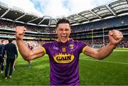 30 June 2019; Lee Chin of Wexford celebrates after winning the Leinster GAA Hurling Senior Championship Final match between Kilkenny and Wexford at Croke Park in Dublin. Photo by Ramsey Cardy/Sportsfile
