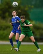 30 June 2019; Kate McDonald of Carlow in action against Maeve Molloy of Sligo/Leitrim during the shield final at the Fota Island FAI Gaynor Tournament U15 Finals at UL Sports in the University of Limerick. Photo by Eóin Noonan/Sportsfile