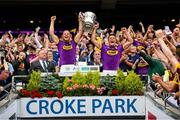 30 June 2019; Matthew O'Hanlon and Lee Chin of Wexford lift the cup after the Leinster GAA Hurling Senior Championship Final match between Kilkenny and Wexford at Croke Park in Dublin. Photo by Ramsey Cardy/Sportsfile