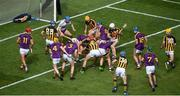 30 June 2019; Both sides scramble for the ball near the end of the Leinster GAA Hurling Senior Championship Final match between Kilkenny and Wexford at Croke Park in Dublin. Photo by Daire Brennan/Sportsfile