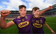 30 June 2019; Conor McDonald, left, and Joe O'Connor of Wexford following the Leinster GAA Hurling Senior Championship Final match between Kilkenny and Wexford at Croke Park in Dublin. Photo by Ramsey Cardy/Sportsfile