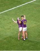 30 June 2019; Kevin Foley, left, and Conor McDonald of Wexford celebrate after the Leinster GAA Hurling Senior Championship Final match between Kilkenny and Wexford at Croke Park in Dublin. Photo by Daire Brennan/Sportsfile