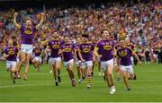 30 June 2019; Wexford players celebrate following the Leinster GAA Hurling Senior Championship Final match between Kilkenny and Wexford at Croke Park in Dublin. Photo by Ramsey Cardy/Sportsfile
