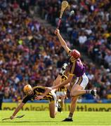 30 June 2019; Paudie Foley of Wexford  in action against Billy Ryan of Kilkenny during the Leinster GAA Hurling Senior Championship Final match between Kilkenny and Wexford at Croke Park in Dublin. Photo by Ray McManus/Sportsfile