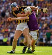 30 June 2019; Ger Aylward of Kilkenny is tackled by Liam Ryan of Wexford during the Leinster GAA Hurling Senior Championship Final match between Kilkenny and Wexford at Croke Park in Dublin. Photo by Ray McManus/Sportsfile