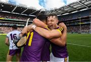 30 June 2019; Lee Chin and Jack O'Connor of Wexford following the Leinster GAA Hurling Senior Championship Final match between Kilkenny and Wexford at Croke Park in Dublin. Photo by Ramsey Cardy/Sportsfile